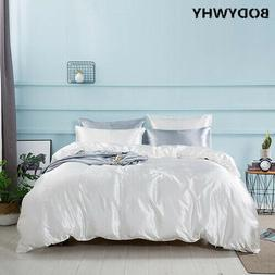 4 pieces of ice silk bedding set luxury bed linen quilt pill