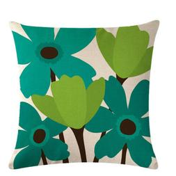 Abstract Flower Home Decor Pillow Cover Cushion Case Throw P
