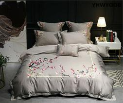 Beddingset Luxury Egyptian Cotton Embroidered Bed Cover Shee