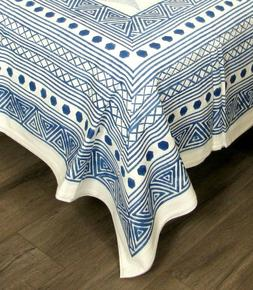 full double cotton flat bed sheet hand