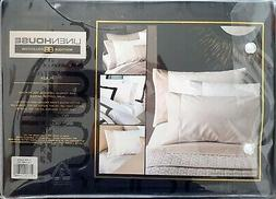 Linen House Plaza Black Queen Fitted Sheet Set   500TC   Pur