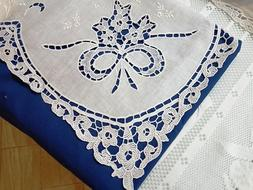 pure linen sheets with embroidered Burano in Venice love kno