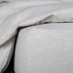 Washed European Flax Linen Blend Fitted Sheet - Soft and 100